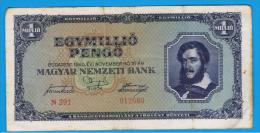 HUNGRIA - HUNGARY - 1.000.000 Pengo 1945  P-122  Serie N291 - Hungría