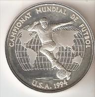 MONEDA DE PLATA DE ANDORRA DEL CAMPEONATO MUNDIAL DE FUTBOL USA 1994  10 DINERS AÑO 1993 (SILVER-ARGENT) - Andorre