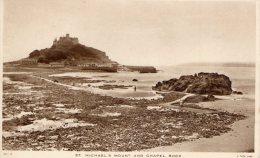 [DC8827] FRANCIA - ST. MICHAEL S. MOUNT AND CHAPEL ROCK - Viaggiata 1953 - Old Postcard - Le Mont Saint Michel
