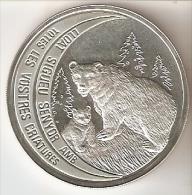 MONEDA DE PLATA DE ANDORRA DE UN OSO PARDO DE 10 DINERS AÑO 1992 (SILVER-ARGENT) - Andorre