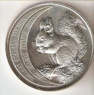 MONEDA DE PLATA DE ANDORRA DE UNA ARDILLA  DE 10 DINERS AÑO 1992 (SILVER-ARGENT) - Andorre