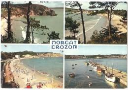 Dépt 29 - CROZON - MORGAT - (CPSM 10x15 Cm) - Multi-Vues - La Grande Plage, La Plage Du Porzic Et Le Port De Pêche - Crozon