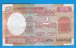 INDIA - 2 Rupias ND  Serie 49A - India