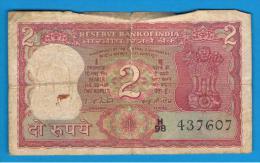 INDIA - 2 Rupias ND  Serie H98  Rotura - India