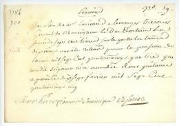 ARNÉ DE SARIAC Paris 1785 Sous Louis XVI Quittance DUC D'ORLEANS Parchemin - Historical Documents