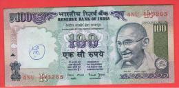 INDIA -100 Rupias ND  P-91  Serie 4NU  GANDHI - India