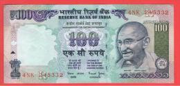 INDIA -100 Rupias ND  P-91  Serie 4NK  GANDHI - India