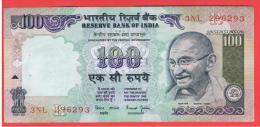 INDIA -100 Rupias ND  P-91  Serie 3NL  GANDHI - India
