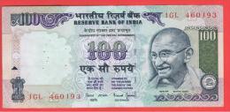 INDIA -100 Rupias ND  P-91  Serie 1GL  GANDHI - India
