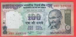 INDIA -100 Rupias ND  P-91  Serie  4HT  GANDHI - India