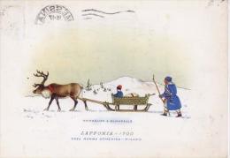 Carrozze Di Tutto Il Mondo - Serie IV - Lapponia 1700 - Formato Grande Viaggiata - Taxi & Carrozzelle