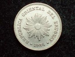 FV - URUGUAY 1924 - 1 CENTESIMO UNC - Uruguay