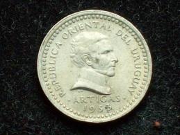 FV - URUGUAY 1953 - 1 CENTESIMO UNC - Uruguay