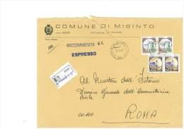 MISINTO - 20020 - PROV. MILANO - R - FORMATO 18X24 - TEMA TOPIC COMUNI D´ITALIA - STORIA POSTALE - Affrancature Meccaniche Rosse (EMA)
