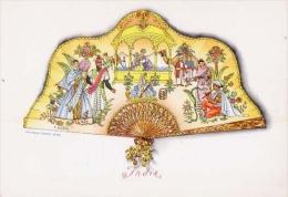 Ventaglio - India - E. Altara - Serie II - Formato Grande Non Viaggiata - Cartoline