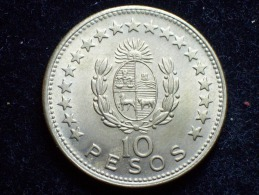 FV - URUGUAY 1965 -  10 PESOS UNC - Uruguay