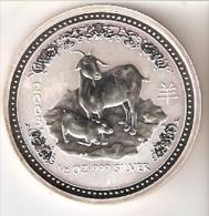 MONEDA DE PLATA DE AUSTRALIA DE 1/2 ONZA DEL AÑO 2003 CABRA (SILVER-ARGENT) HOROSCOPO CHINO - Australia
