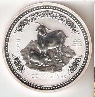MONEDA DE PLATA DE AUSTRALIA DE 1 ONZA DEL AÑO 2003 CABRA (SILVER-ARGENT) HOROSCOPO CHINO - Sin Clasificación