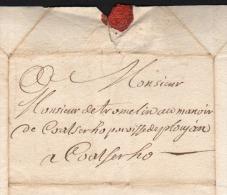 2 Lettres Bretagne Finistère 1749 LESNEVEN Ploujean Morlaix Coatserho Tromelin Fauvel Ancien Régime - Historical Documents
