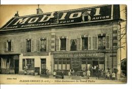 Plessis Chenets Hotel Restaurant Du Grand Pacha Publicité Mobiloil Intégrée Dans La Toiture - Altri Comuni