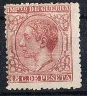 Sello 15 Cts Alfonso XII 1877, Impuesto Guerra, Num 188 * - Impuestos De Guerra