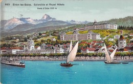 74 EVIAN LES BAINS SPLENDIDE ET ROYAL HOTELS / DENTS D OCHE - Evian-les-Bains
