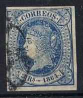 Sello 2 Reales Isabel II 1864, Variedad Pepel Blanco, Num 68p º - 1850-68 Kingdom: Isabella II