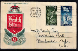 A0226 NEW ZEALAND 1953, SG 719-20 Health Stamps  FDC - Covers & Documents