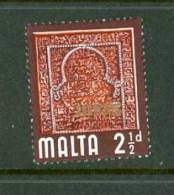 Malta: 1965/70   QE II    SG334    2½d     MH - Malta