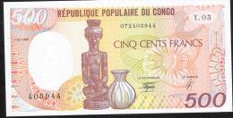 CONGO REPUBLIC P8c  500 FRANCS  1990   UNC. - Zonder Classificatie