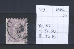 Leopold II - Yv./OCB 52 Gest./obl./used - 1884-1891 Leopold II