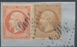 Lot N°22319   N°21 Et N°23/Fragment, Oblit GC étranger 5098 SMYRNE (Turquie), - 1862 Napoleon III