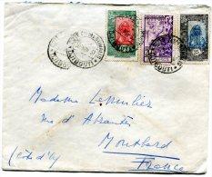 COTE FRANCAISE DES SOMALIS LETTRE DEPART DJIBOUTI 30 NOV 37  ARRIVEE  MONTBARD ?-12-37 - Côte Française Des Somalis (1894-1967)