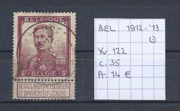 Pellens 1912-´13 - Yv./OCB 122 Gest./obl./used - 1912 Pellens