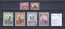 Kathedralen 1928 - Yv./OCB 267/72 Gest./obl./used - Belgique