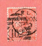 """GB SC #43  1865 QUEEN VICTORIA PLT#11 W/CDS """"LONDON / SP 3 69"""" + """"102"""" IN DIAMOND, CV $72.50 - Used Stamps"""