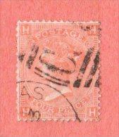 GBR SC #43  1865 QUEEN VICTORIA PLT#12 W/2-3 NIBBED PERFS @ TR, CV $62.50 - 1840-1901 (Victoria)