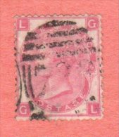 GBR SC #49a  1867 QUEEN VICTORIA PLT 9  W/INK MARKS ON BACK SIDE, CV $67.50 - 1840-1901 (Victoria)