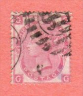 GB SC #49a  1867 QUEEN VICTORIA PLT#10  W/INK MRKG (EXP ?) ON BACK SIDE, CV $145.00 - 1840-1901 (Victoria)