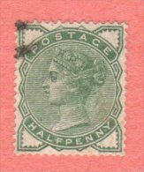 GB SC #78 U 1880 QUEEN VICTORIA  W/TONED PERF @ BL (MOSTLY BACK SIDE), CV $13.50 - 1840-1901 (Victoria)