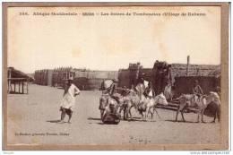 SOUDAN - AFRIQUE OCCIDENTALE - VILLAGE DE KABARA - 386 - LES ÂNIERS DE TOMBOUCTOU - ÂNE - Collection Générale Fortier - Sudan