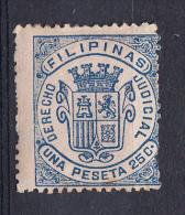 FILIPINAS.1876 SELLOS FISCALES.DERECHO JUDICIAL.1,25 PESETAS .RARO  NUEVO CON CHARNELA.SES 341 - Fiscales