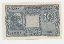 ITALY 10 Lire 1935 (1944) AUNC+ P 32b 32 B - [ 1] …-1946 : Kingdom