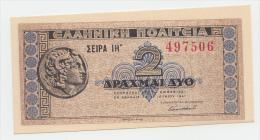 GREECE 2 DRACHMAS 1941 UNC NEUF P 318 - Greece