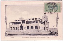 LOME - Wohnung Des Kaiserlichen Gouverneurs Von Togo - Affr. 5 C Dahomey  Oblit.  Cad Allemand  D´ANECHO - Togo (1914-1960)
