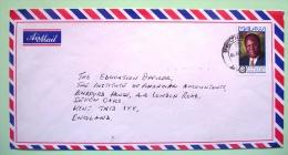 Malawi 1995 Cover To England UK - President Bakili Muluzi - Malawi (1964-...)