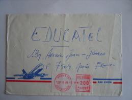 Ivoorkust Côte D'Ivoire Lettre Brief Cover 1991 Abidjan 06 Pour La France Automation LSA - Côte D'Ivoire (1960-...)