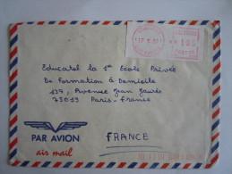 Ivoorkust Côte D'Ivoire Lettre Brief Cover 1989 Abidjan 06 Pour La France Automation LSA - Côte D'Ivoire (1960-...)