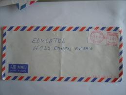 Ivoorkust Côte D'Ivoire Lettre Brief Cover 1989 Abidjan 15 Pour La France Automation LSA - Côte D'Ivoire (1960-...)