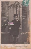 Carte Postale Ancienne Fantaisie - Enfant - Bonne Et Heureuse Année - Otros